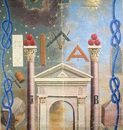 Grand tableau de loge d'apprenti des amis fidèles de l'Orient de Sète   Musée de la Franc-maçonnerie