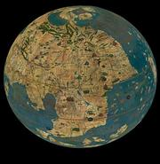 Globe terrestre de Martin Behaim (1492)   Reproduction en 3D © DNP Dai Nippon Printing Co., Ltd. [2015]
